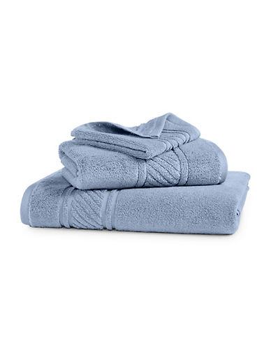Martha Stewart Spa Solid Cotton Washcloth-FROZEN POND-Washcloth