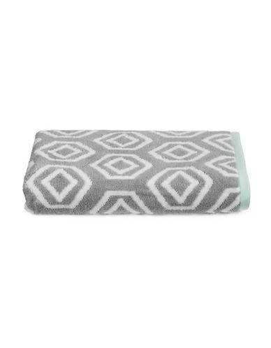 Martha Stewart Spa Geo Cotton Bath Towel-MOURNING DOVE-Bath Towel