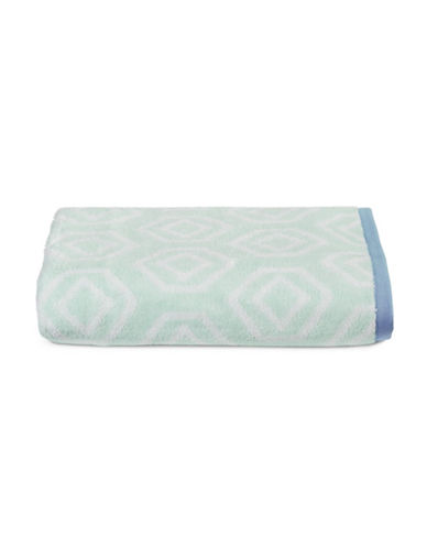 Martha Stewart Spa Geo Cotton Bath Towel-SEA SPRAY-Bath Towel
