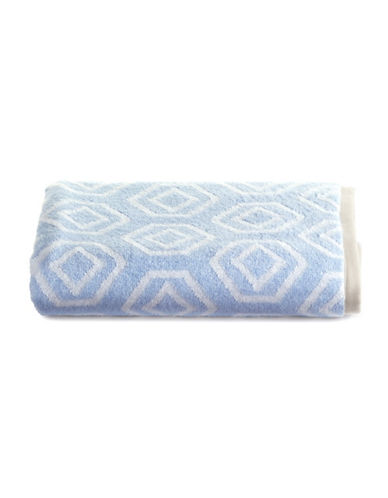 Martha Stewart Spa Geo Cotton Bath Towel-FROZEN POND-Bath Towel