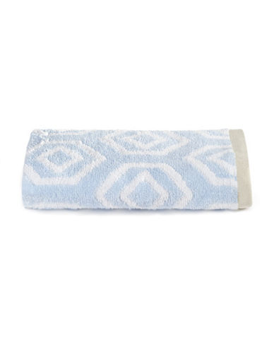 Martha Stewart Spa Geo Cotton Hand Towel-FROZEN POND-Hand Towel