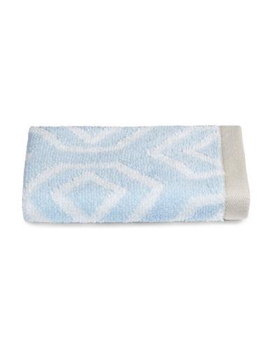 Martha Stewart Spa Geo Cotton Washcloth-FROZEN POND-Washcloth