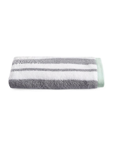 Martha Stewart Spa Stripe Cotton Hand Towel-MOURNING DOVE-Hand Towel