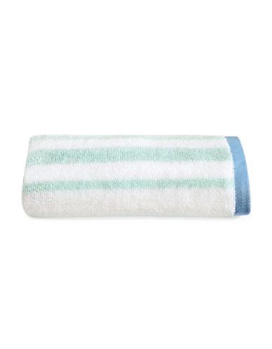 Martha Stewart Spa Stripe Cotton Hand Towel-SEA SPRAY-Hand Towel