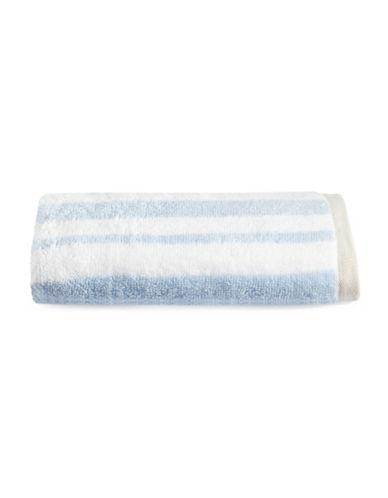 Martha Stewart Spa Stripe Cotton Hand Towel-FROZEN POND-Hand Towel