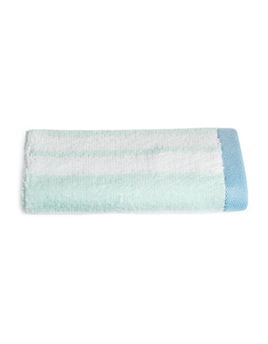 Martha Stewart Spa Stripe Cotton Washcloth-SEA SPRAY-Washcloth