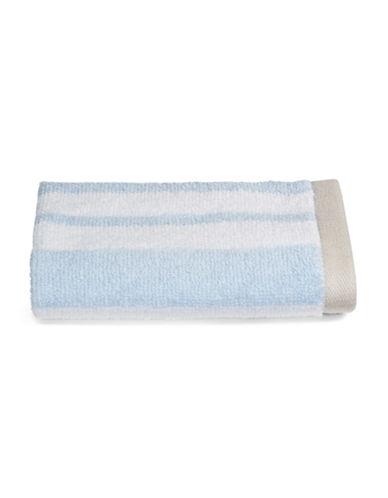 Martha Stewart Spa Stripe Cotton Washcloth-FROZEN POND-Washcloth