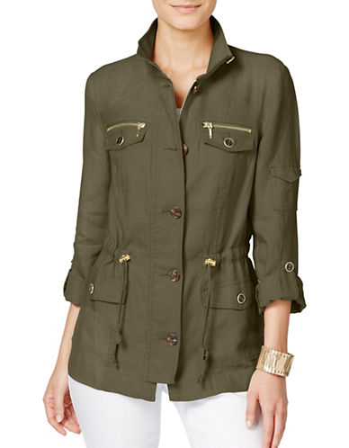 I.N.C International Concepts Solid Utility Anorak Jacket-GREEN-X-Small 88936781_GREEN_X-Small
