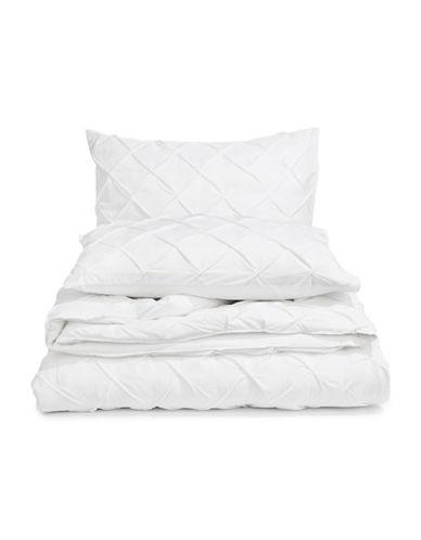 Martha Stewart You Complete Me Three-Piece Comforter Set-WHITE-Twin