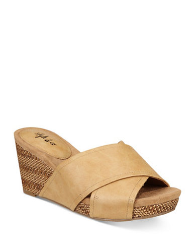 Style And Co. Jill Slide Wedges-NATURAL-10