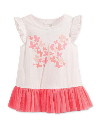 First Impressions Butterfly Tulle Peplum Tunic-PINK-18 Months 88999247_PINK_18 Months