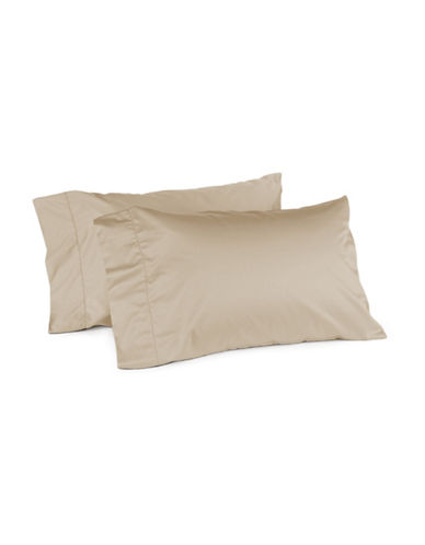 Hotel Collection 680 Thread-Count Supima Cotton Two-Piece Pillowcase Set-SAND-Standard