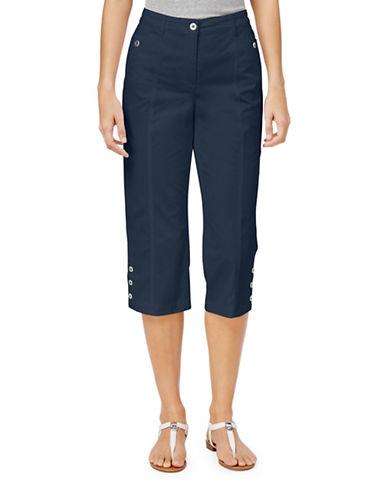 Karen Scott Cropped Button-Hem Pants-BLUE-6
