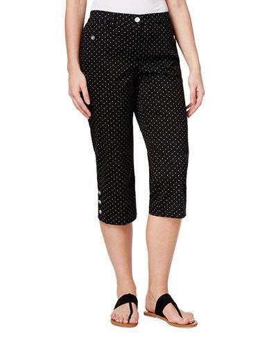 Karen Scott Dot-Print Capri Pants-BLACK-6