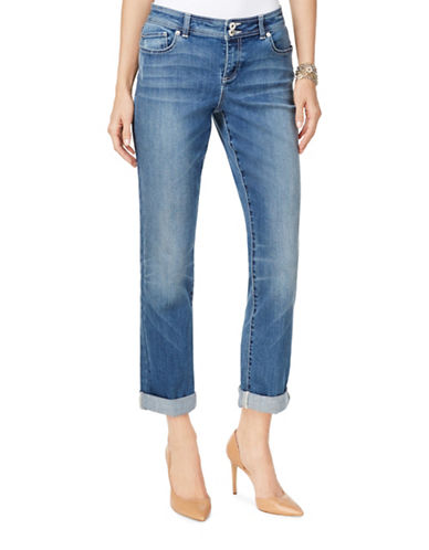 I.N.C International Concepts Sunlight Boyfriend Jeans-BLUE-10