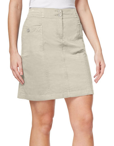 Karen Scott Knit A-Line Skort-GREY-18