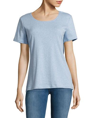 Karen Scott Round Neck Tee-BLUE-X-Large 89011225_BLUE_X-Large