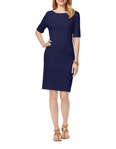 Karen Scott Long Line T-Shirt-BLUE-Small