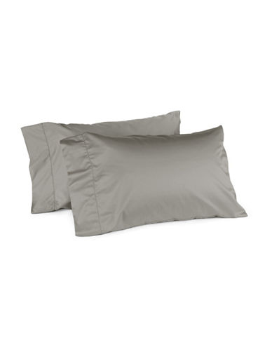 Hotel Collection 680 Thread-Count Supima Cotton Two-Piece Pillowcase Set-SILVER-Standard