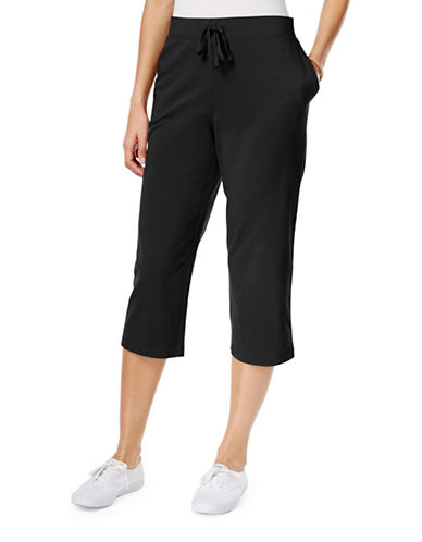 Karen Scott Pull-On Capri Pants-BLACK-Small 89027931_BLACK_Small