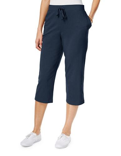 Karen Scott Pull-On Capri Pants-BLUE-X-Large 89027939_BLUE_X-Large