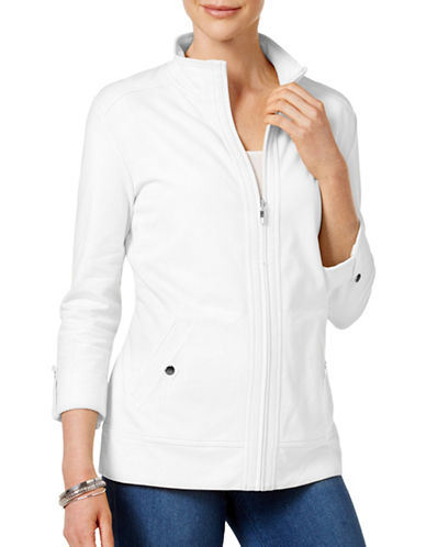 Karen Scott Roll-Tab Jacket-WHITE-X-Large 89027960_WHITE_X-Large