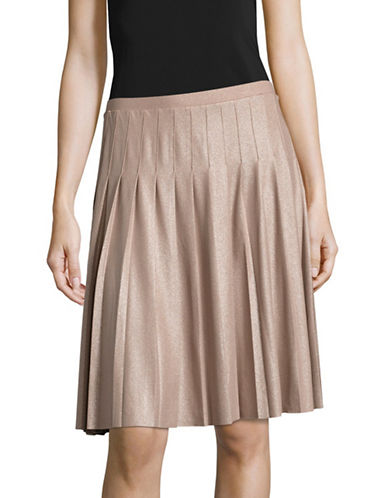 I.N.C International Concepts Petite Pleated Chiffon Skirt-PINK-Petite Large