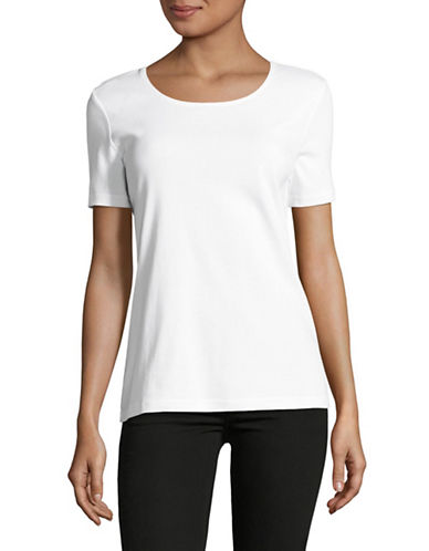 Karen Scott Scoop-Neck T-Shirt-WHITE-Small 89081585_WHITE_Small