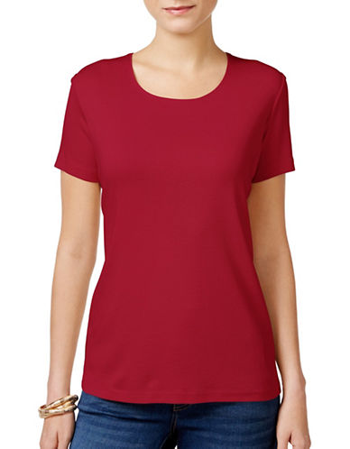 Karen Scott Relaxed T-Shirt-RED-Small