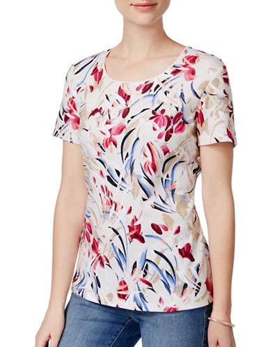 Karen Scott Floral-Print T-Shirt-PINK-Small 89081608_PINK_Small