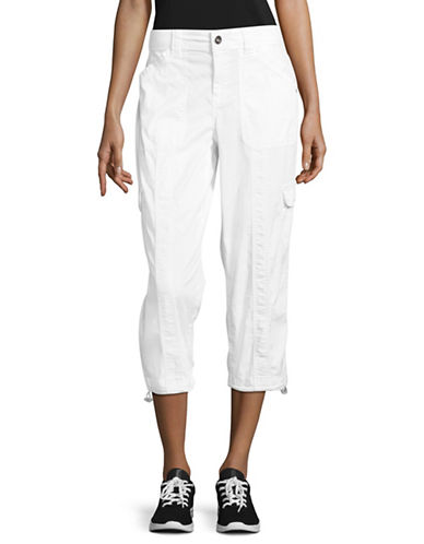 Style And Co. Cargo Capri Pants-WHITE-10