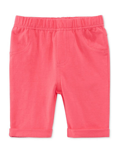 First Impressions Solid Bermuda Shorts-ORANGE-18 Months