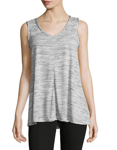 Style And Co. Spacedye Tank Top-BLACK-Large