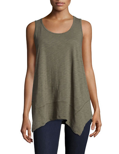 Style And Co. Hammerhead Tank-GREEN-Small