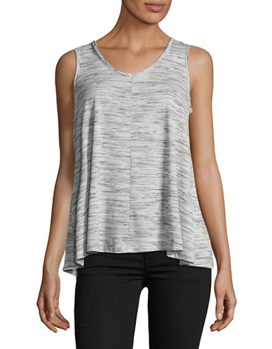 Style And Co. Petite Ruched Tank Top-BLACK-Petite Large