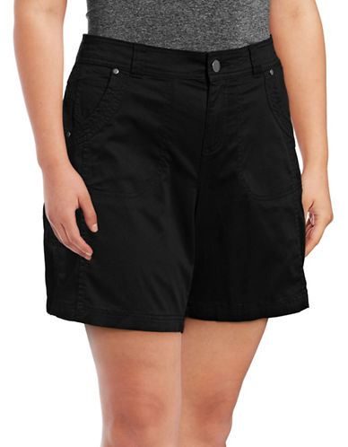 Style And Co. Plus Mid-Rise Woven Shorts-BLACK-20W
