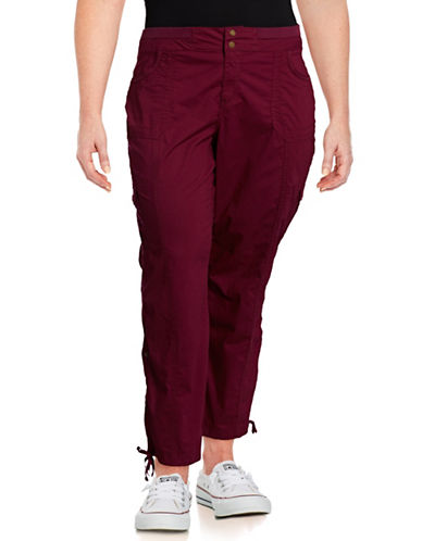 Style And Co. Plus Convertible Cargo Pants-PURPLE-16W