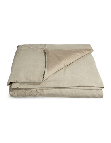 Hotel Collection Arabesque Comforter Cover-STONE-Queen