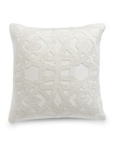 Hotel Collection Winter White Square Cushion-WHITE-20x20