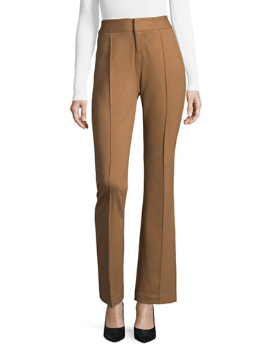 I.N.C International Concepts Regular Fit Zip Pants-BEIGE-2