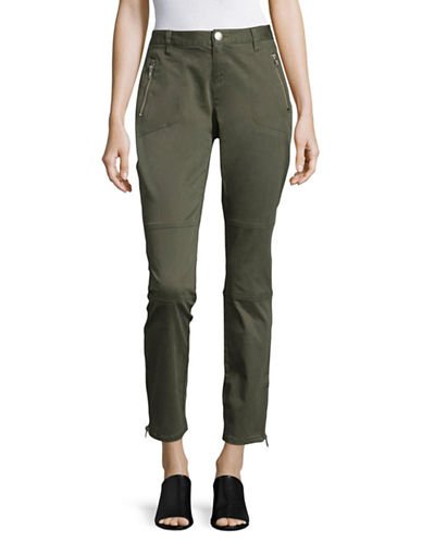 I.N.C International Concepts Regular Fit Zip High-Rise Pants-GREEN-16