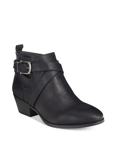 Style And Co. Strappy Buckled Booties-BLACK-9