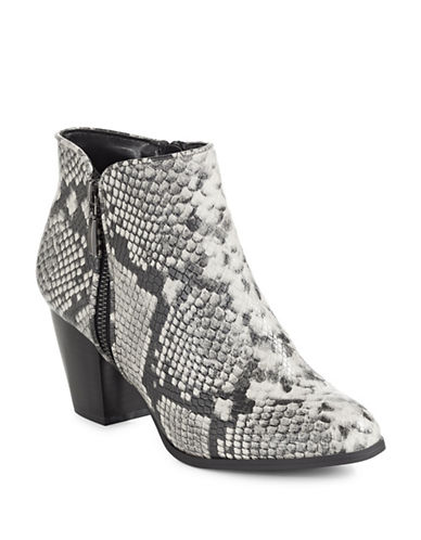 Style And Co. Jamil Raisin Zip Booties-NATURAL SNAKE-9.5