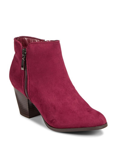 Style And Co. Jamil Raisin Zip Booties-RAISIN-9