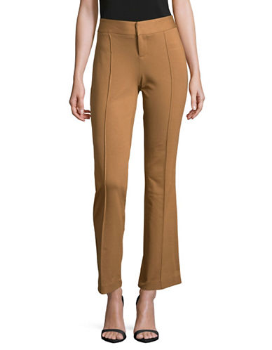 I.N.C International Concepts Petite Piped Buttoned Pants-SALTY NUT-Petite 10