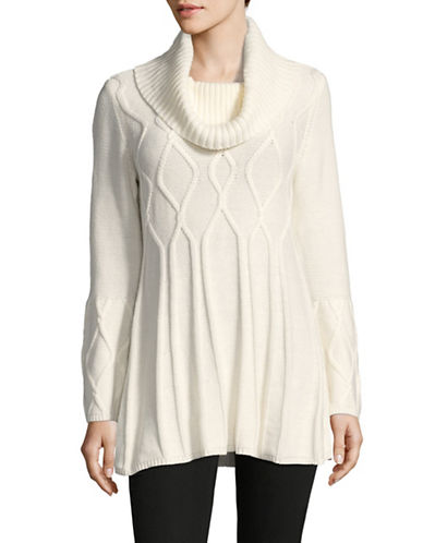 Style And Co. Relaxed Tunic-WHITE-Medium