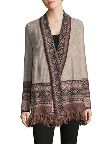 Style And Co. Bohemian Knit Cardigan-MULTI-Medium