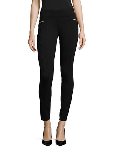 I.N.C International Concepts Petite Skinny-Fit Ponte Pants-BLACK-Petite 2