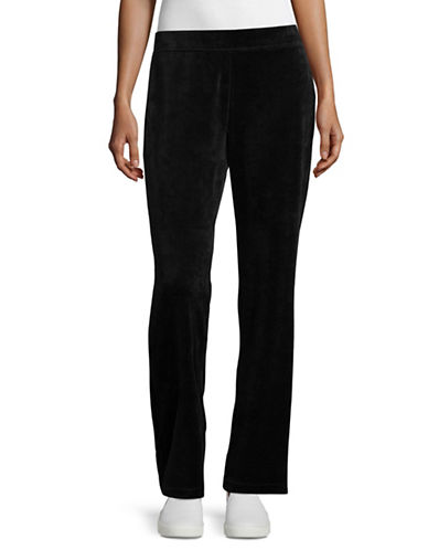 Karen Scott Basic Velour Pants-BLACK-Small