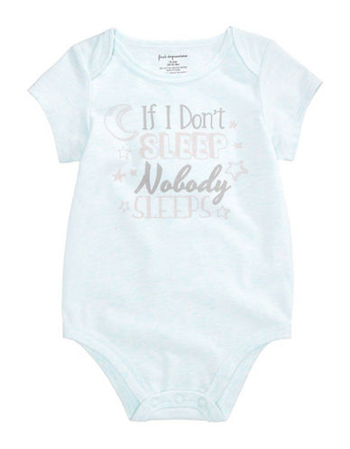 First Impressions Nobody Sleeps Graphic Bodysuit-BLUE-3-6 Months